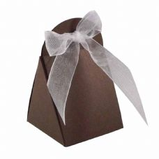 Brown Round Top Designer Favour Boxes